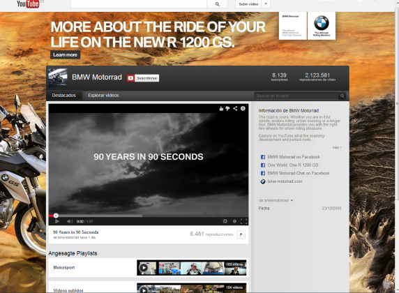 Captura canal YouTube BMW Motorrad