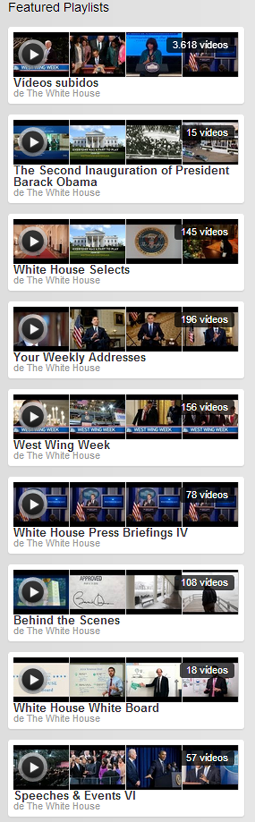 Playlists White House